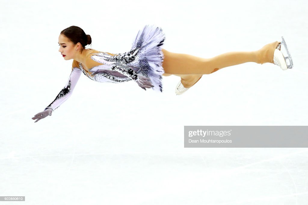 Alina Zagitova of Olympic Athlete from Russia competes during the Ladies Single Skating Short Program on day twelve of the PyeongChang 2018 Winter Olympic Games at Gangneung Ice Arena on February 21, 2018 in Gangneung, South Korea.