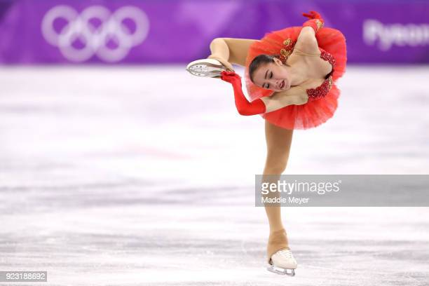 Alina Zagitova of Olympic Athlete from Russia competes during the Ladies Single Skating Free Skating on day fourteen of the PyeongChang 2018 Winter...