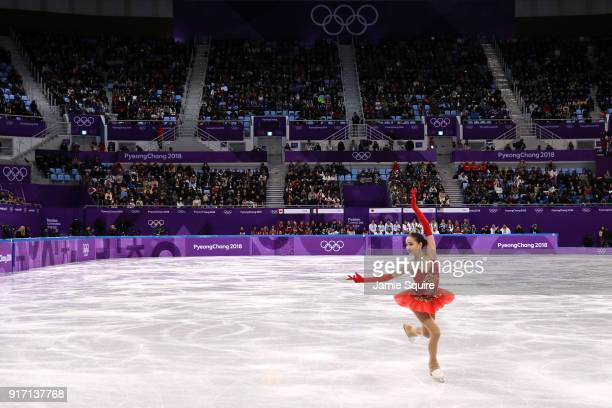 Alina Zagitova of Olympic Athlete from Russia competes in the Figure Skating Team Event – Ladies' Single Free Skating on day three of the PyeongChang...