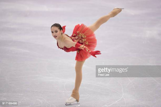 Alina Zagitova of Olympic Athlete from Russia competes in the Figure Skating Team Event Ladies Single Free Skating on day three of the PyeongChang...