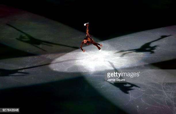 Alina Zagitova of Olympic Athletes from Russia performs during the Figure Skating Gala Exhibition at Gangneung Ice Arena on February 25 2018 in...
