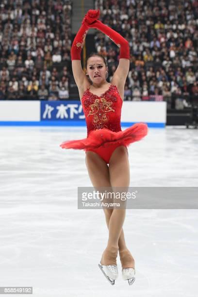 Alina Zagitova of Russia competes during the figure skating Japan Open at Saitama Super Arena on October 7 2017 in Saitama Japan