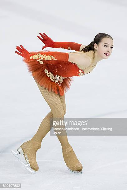 Alina Zagitova of Russia competes during the Junior Ladies Free Skating on day three of the ISU Junior Grand Prix of Figure Skating on September 24...