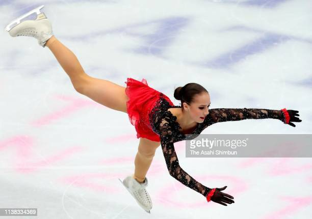 Alina Zagitova of Russia competes in the Ladies Free Skating on day three of the 2019 ISU World Figure Skating Championships at Saitama Super Arena...