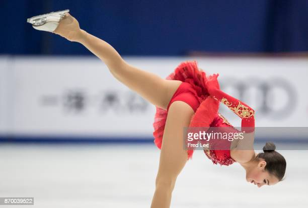 Alina Zagitova of Russia competes in the Ladies Free Skating on day two of Audi Cup of China ISU Grand Prix of Figure Skating 2017 at Beijing Capital...
