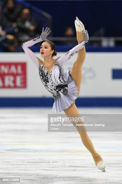 Alina Zagitova of Russia competes in the Ladies short progam during the ISU Junior Senior Grand Prix of Figure Skating Final at Nippon Gaishi Hall on...