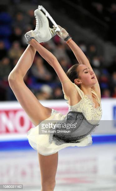Alina Zagitova of Russia competes in the Ladies Short Program during the ISU Junior and Senior Grand Prix of Figure Skating Final on December 6 2018...