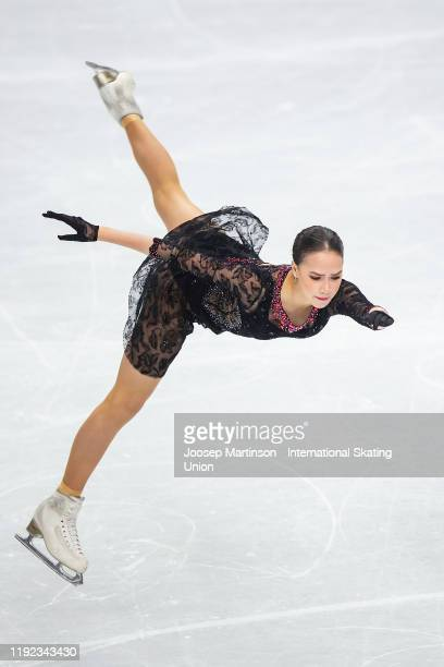 Alina Zagitova of Russia competes in the Ladies Short Program during the ISU Grand Prix of Figure Skating Final at Palavela Arena on December 06,...