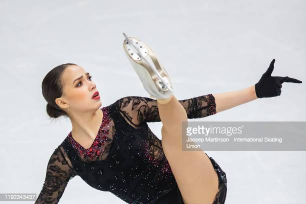 Alina Zagitova of Russia competes in the Ladies Short Program during the ISU Grand Prix of Figure Skating Final at Palavela Arena on December 06 2019...