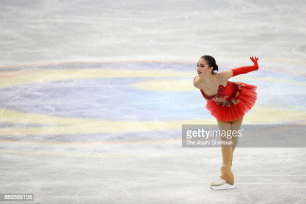 Alina Zagitova of Russia competes in the Ladies Singles Free Skating during day three of the ISU Junior Senior Grand Prix of Figure Skating Final at...