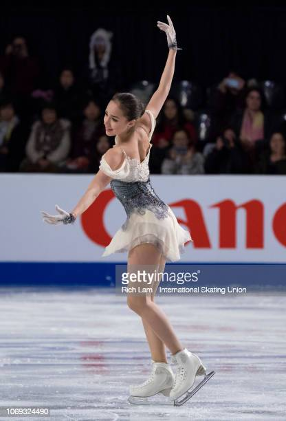 Alina Zagitova of Russia competes in the Short Program of the Women's competition at the ISU Junior and Senior Grand Prix of Figure Skating Final...