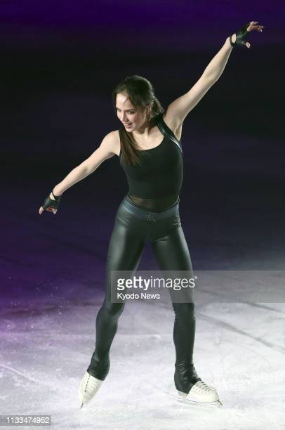 Alina Zagitova of Russia performs during an ice show in Osaka on March 29 2019 ==Kyodo