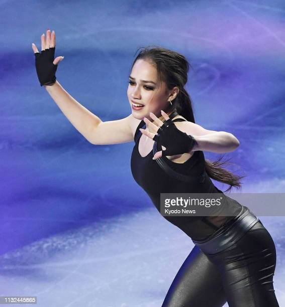Alina Zagitova of Russia performs during the exhibition gala of the world figure skating championships at Saitama Super Arena near Tokyo on March 24...
