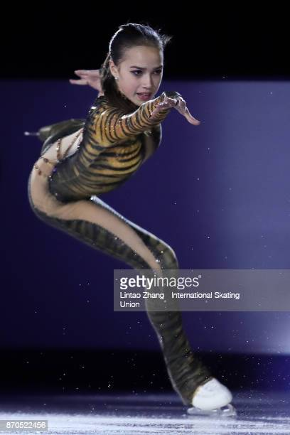 Alina Zagitova of Russia performs during the Exhibition Program on day three of Audi Cup of China ISU Grand Prix of Figure Skating 2017 at Beijing...