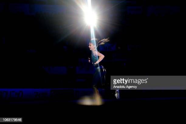 Alina Zagitova of Russia performs during the Gala Exhibition of the ISU GP Rostelecom Cup 2018 at the Megasport Arena in Moscow Russia on November 18...