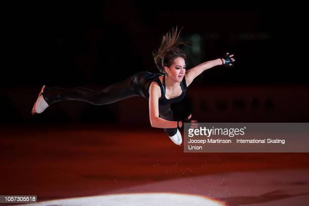 Alina Zagitova of Russia performs in the Gala Exhibition during day three of the ISU Grand Prix of Figure Skating at the Helsinki Arena on November 4...