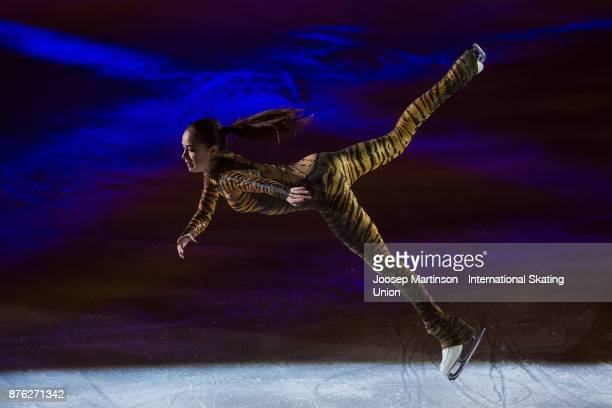 Alina Zagitova of Russia performs in the Gala Exhibition during day three of the ISU Grand Prix of Figure Skating at Polesud Ice Skating Rink on...