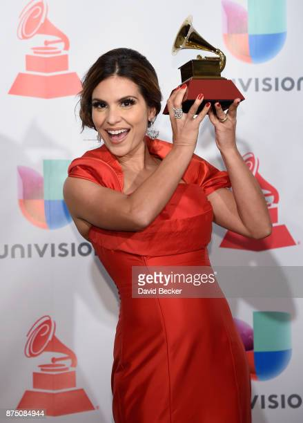 Aline Barros poses in the press room during The 18th Annual Latin Grammy Awards at MGM Grand Garden Arena on November 16 2017 in Las Vegas Nevada