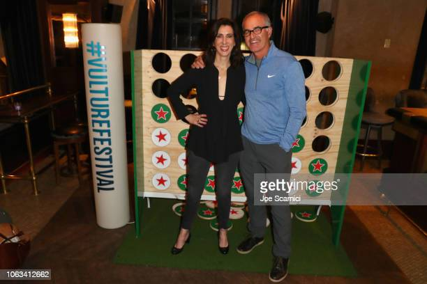 Aline Brosh McKenna and David Frankel attend the Heineken Green Room during Vulture Festival Presented by AT&T at Hollywood Roosevelt Hotel on...