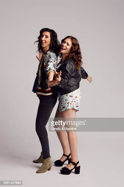 Aline Brosh McKenna and Rachel Bloom from The CW Television Network's 'Crazy Ex-Girlfriend' poses for a portrait in the Getty Images Portrait Studio...