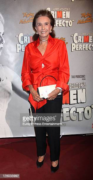Aline Griffith attends 'Crimen Perfecto' play premiere at Reina Victoria Theatre on September 14 2011 in Madrid Spain