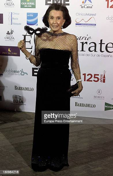 Aline Griffith Condesa de Romanones attends the Magazine Escaparate annual Awards at Reales Alcazares on October 28 2011 in Seville Spain