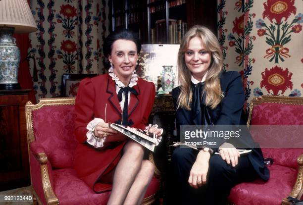 Aline Griffith Countess of Romanones and Mari RIchaso circa 1982 in New York