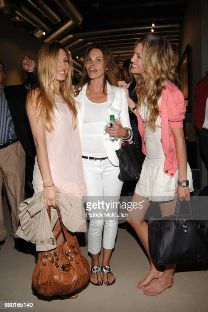Aline Marquard Raquel Marquart and Bianca Gubser attend ART 40 BASEL Opening Day with GALERIE GMURZYNSKA at Art Basel Hall 2 on June 9 2009 in Basel...