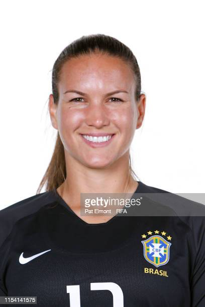 Aline of Brazil poses for a portrait during the official FIFA Women's World Cup 2019 portrait session at Grand Hotel Uriage on June 06, 2019 in...