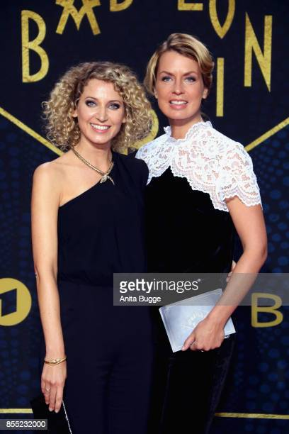 Aline von Drateln and Jessy Wellmer attend the 'Babylon Berlin' premiere at Berlin Ensemble on September 28 2017 in Berlin Germany