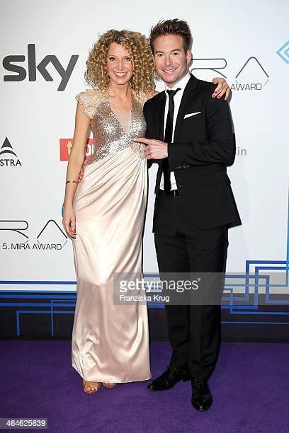 Aline von Drateln and Sebastian Hoeffner attend the Mira Award 2014 on January 23 2014 in Berlin Germany