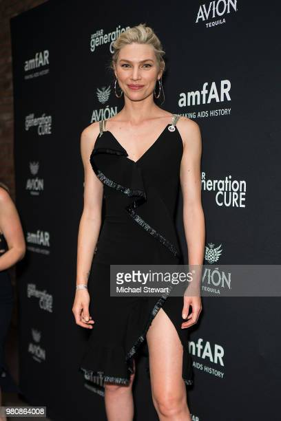 Aline Weber attends amfAR GenCure Solstice 2018 at SECOND on June 21 2018 in New York City
