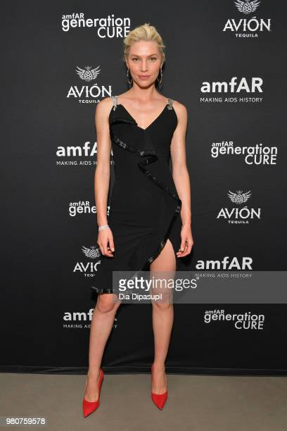Aline Weber attends the amfAR GenCure Solstice 2018 on June 21 2018 in New York City