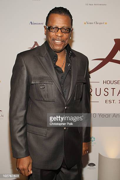 AliOllie Woodson arrives at Crustacean's Ten Year Anniverary with Perfomance by Patti LaBelle on January 262008 in Beverly Hills California