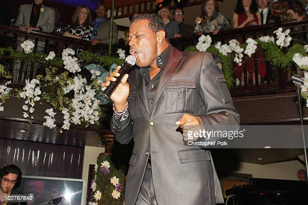 AliOllie Woodson sings at Crustacean's Ten Year Anniverary with Perfomance by Patti LaBelle on January 262008 in Beverly Hills California