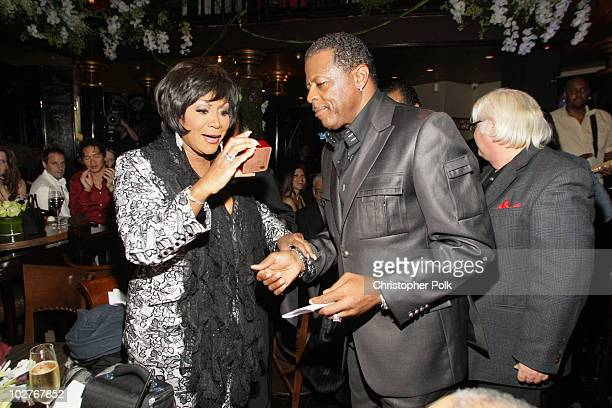 AliOllie Woodson with Patti LaBelle at Crustacean's Ten Year Anniverary with Perfomance by Patti LaBelle on January 262008 in Beverly Hills California