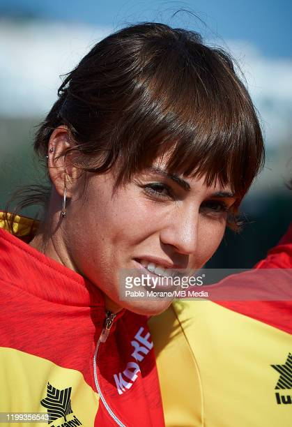 Aliona Bolsova of Spain looks on during the Fed Cup por BNP Paribas qualifiers second round between Spain and Japan at Centro de Tenis La Manga Club...