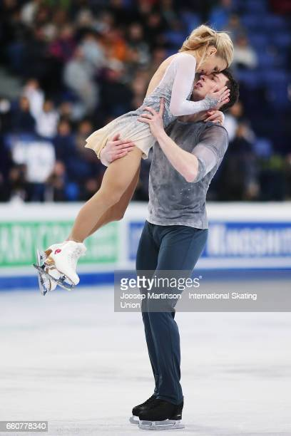 Aliona Savchenko and Bruno Massot of Germany compete in the Pairs Free Skating during day two of the World Figure Skating Championships at Hartwall...