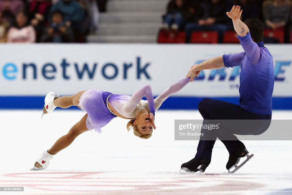 Aliona Savchenko and Bruno Massot of Germany compete in the Pairs Free Skating during day two of 2017 Bridgestone Skate America at Herb Brooks Arena on November 25, 2017 in Lake Placid, New York.