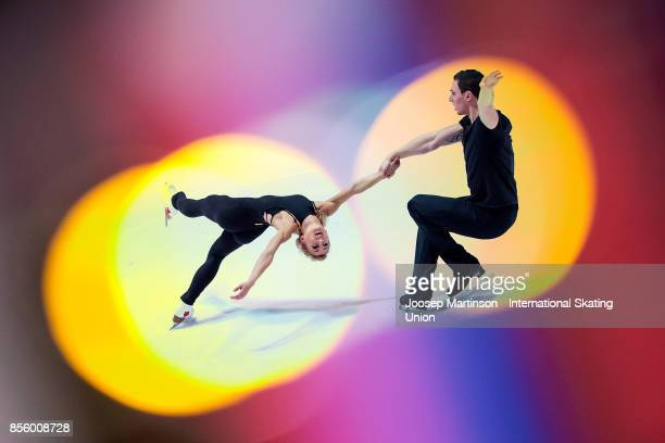 Aliona Savchenko and Bruno Massot of Germany perform in the Gala Exhibition during the Nebelhorn Trophy 2017 at Eissportzentrum on September 30 2017...