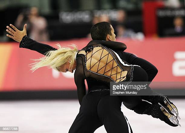 Aliona Savchenko and Robin Szolkowy of Germany compete in the Pairs Short Program Figure Skating during Day 1 of the Turin 2006 Winter Olympic Games...