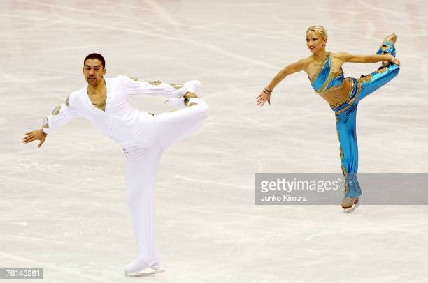 Aliona Savchenko and Robin Szolkowy of Germany compete in the Pairs Short Program of the ISU Grand Prix of Figure Skating NHK Trophy at Sendai City...