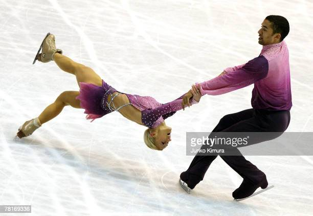 Aliona Savchenko and Robin Szolkowy of Germany compete in the Pairs Free Skating of the ISU Grand Prix of Figure Skating NHK Trophy at Sendai City...