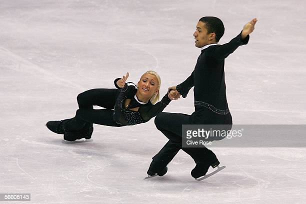 Aliona Savchenko and Robin Szolkowy of Germany in action during the Pairs Short Program at the ISU European Figure Skating Championships on January...