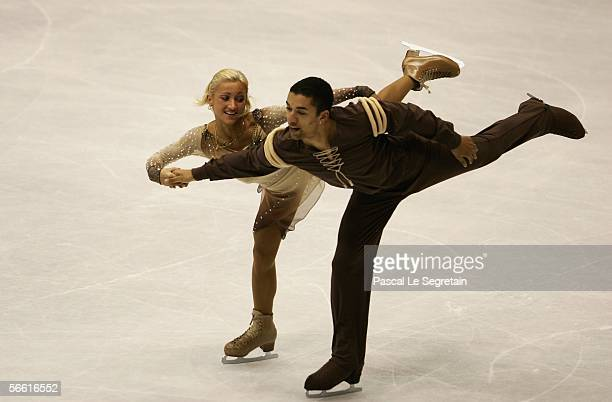 Aliona Savchenko and Robin Szolkowy of Germany perform during Pairs Free Skate at the ISU European Figure Skating Championships on January 18 2006 at...