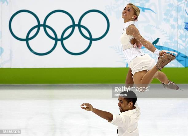 Aliona Savchenko und Ruben Szolkowy Olympische Winterspiele 2010 in Vancouver Eiskunstlauf Kur der Paare Olympic Winter Games 2010 Figureskating...