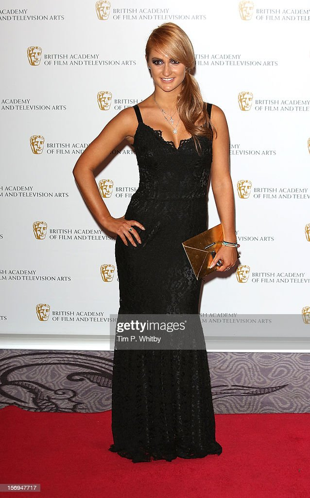 Aliona Vilani poses for a photograph in the press room at the British Academy Children's Awards at London Hilton on November 25, 2012 in London, England.
