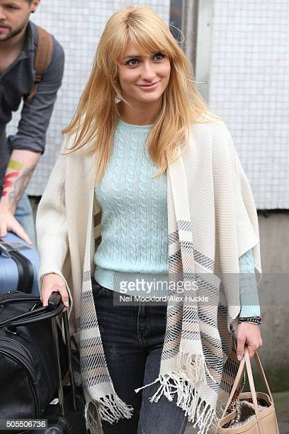 Aliona Vilani seen at the ITV Studios after appearing on Loose Women on January 18 2016 in London England