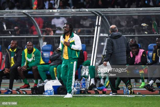 Aliou Cisse coach of Senegal during the friendly match between Senegal and Ivory Coast at Stade Charlety on March 27 2017 in Paris France