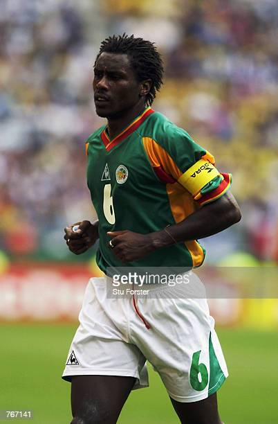 Aliou Cisse of Senegal in action during the FIFA World Cup Finals 2002 Second Round match between Sweden and Senegal played at the Oita Big Eye...